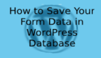 How to Save Your Form Data in WordPress Database
